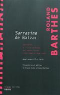 Les cours et les séminaires de Roland Barthes. Cours sur Sarrasin