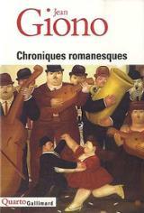 Chroniques romanesques - Giono, Jean