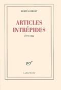 Articles intrépides : 1977-1985
