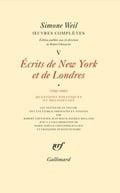 Oeuvres complète, Tome 5, Volum 1. Ecrits de New York et Londres.