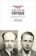 """À en-tête de """"critique"""" : Correspondance 1946-1951"""