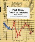 Paul Klee, Cours du Bauhaus. Weimar 1921-1922