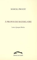 A propos de Baudelaire: lettre à Jacques Rivière