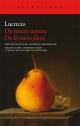 De rerum natura / De la naturaleza - Lucrecio