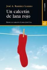 Un calcetín de lana rojo
