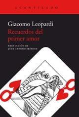 Recuerdos del primer amor - Leopardi, Giacomo