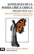 Antología de la poesía lírica griega siglos VII-IV A.C.