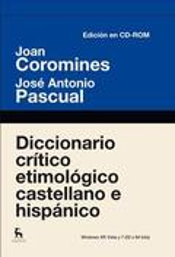 Diccionario crítico etimológico en cd-rom
