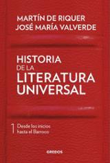 Historia de la literatura universal, I