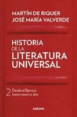 Historia de la literatura universal, II