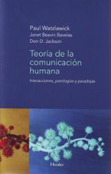 Teoría de la comunicación humana - Watzlawick, Paul