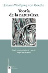 Teoría de la naturaleza - Goethe, Johann Wolfgang Von