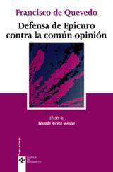Defensa de Epicuro contra la común opinión