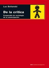 De la crítica. Compendio de sociología de la emancipación