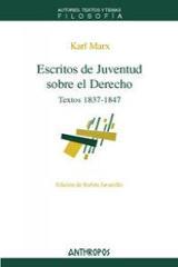 Escritos de juventud sobre el Derecho. Textos 1837-1847