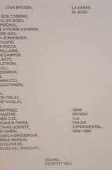 La xarxa al bosc. Joan Brossa - Escoffet, Eduard (ed)