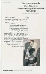 Correspondencia: Carl Einstein / Daniel-Henry Kahnweiler, 1921-19