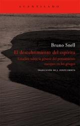El descubrimiento del espíritu - Snell, Bruno