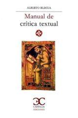 Manual de crítica textual - Blecua, Alberto