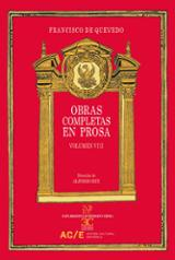 Obras completas en prosa, vol.VIII - de Quevedo, Francisco