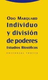 Individuo y división de poderes - Marquard, Odo