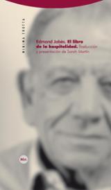 El libro de la hospitalidad - Jabès, Edmond