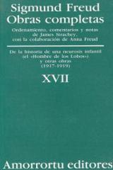 Obras completas, XVII. de la historia de una neurosis infantil, y