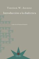 Introducción a la dialéctica - Adorno, Theodor W.