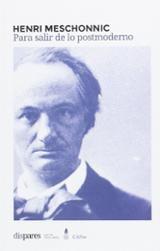 Para salir de lo postmoderno - Meschonnic, Henri