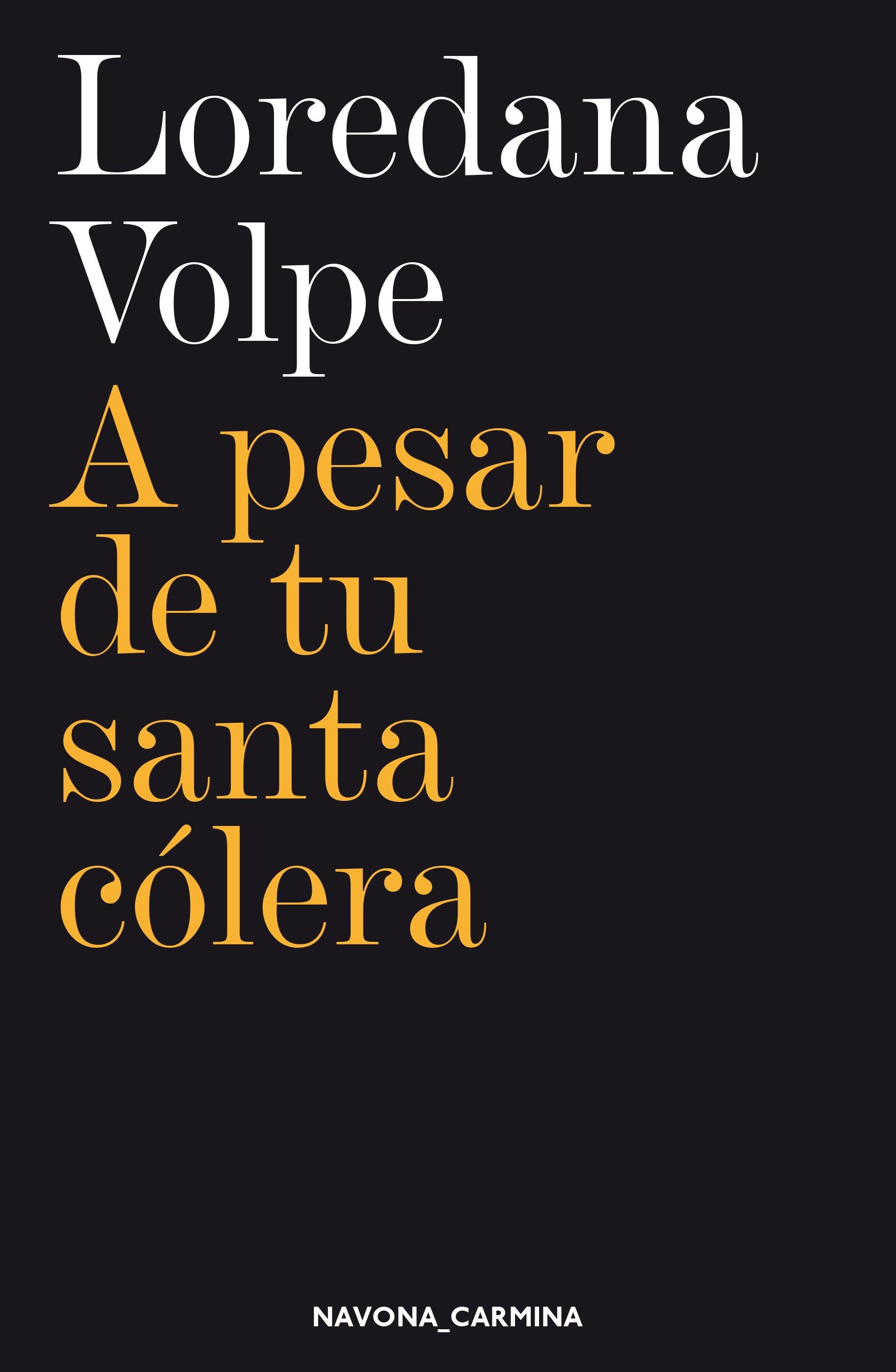 <em>A pesar de tu santa cólera</em>deLoredana Volpe